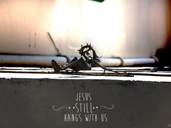 <span>Jesus still hangs with us</span><i>→</i>